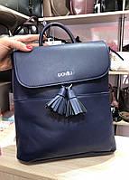 Рюкзак с кисточками синий