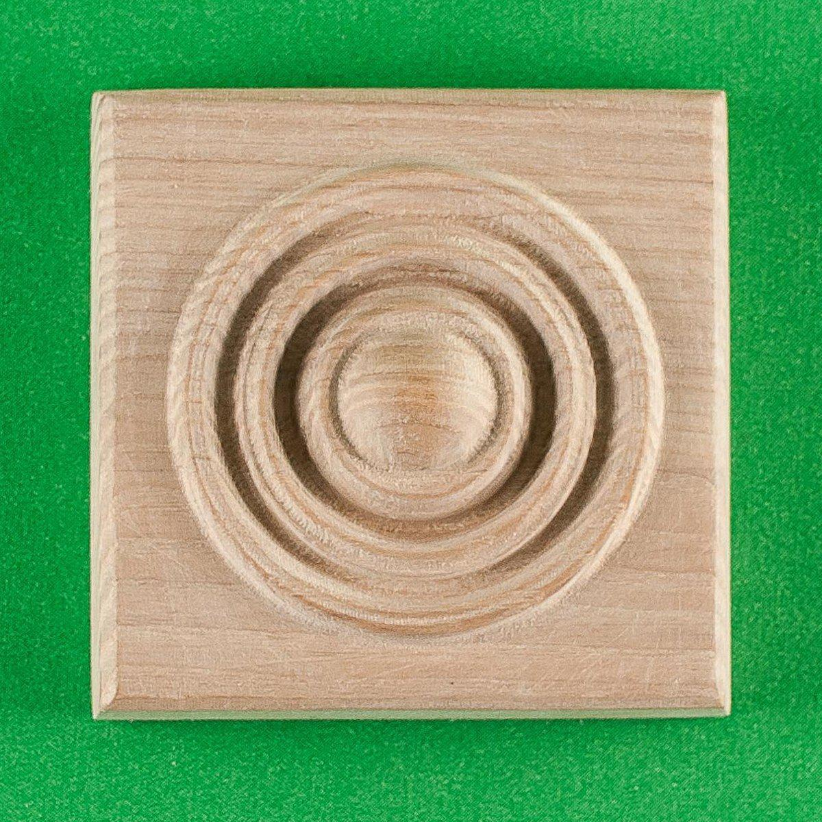 Деревянный декор для мебели. Розетки квадратные.Код Р17