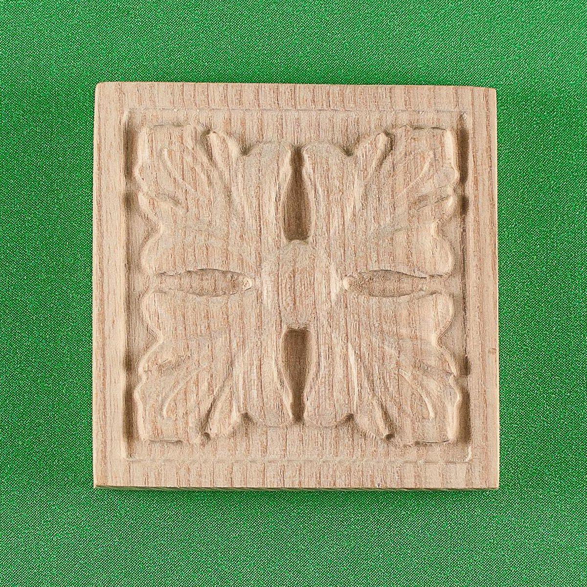 Деревянные резной накладки для мебели. Розетка мебельная. Код Р20