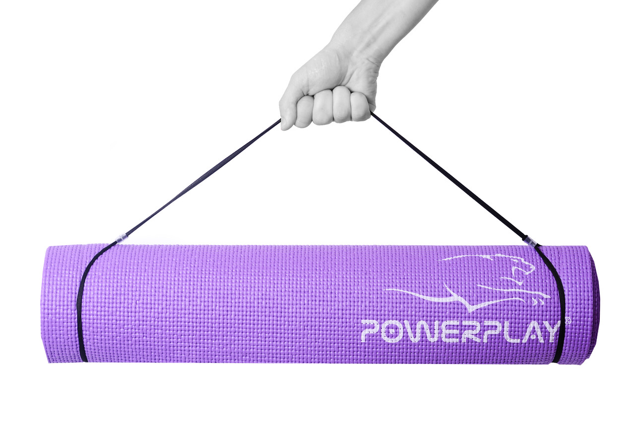 Коврик для йоги и фитнеса PowerPlay 4010 (183*61*0.6) фиолетовый