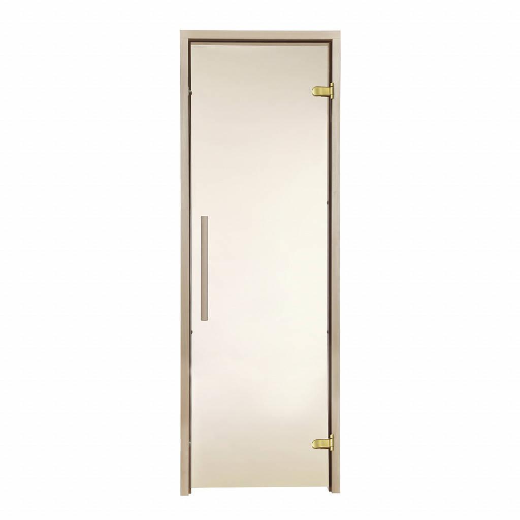 Дверь GREUS Premium сауна 70х200 бронза матовая
