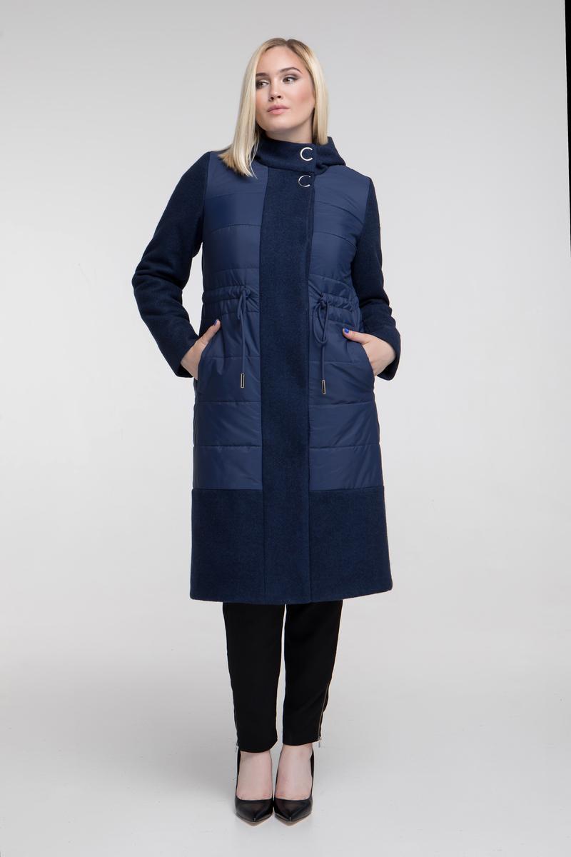 a94bf584a8fc Я-Модна - купить Женское комбинированное пальто 679 / размер 48-62 / цвет  синий ...