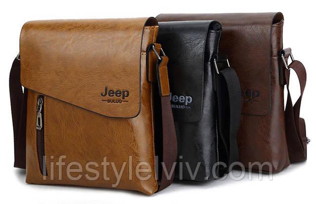 bc1684574f4f Сумка Jeep Buluo имеет стильный дизайн и крепкую фурнитуру. Идеально  вмещает папки, бумаги и документы. Внутреннее объёмное отделение и  дополнительные ...