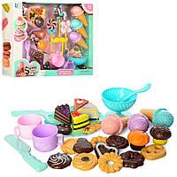 Набор посуды Сладости тортик мороженое кекс печенье детская игрушечная посудка, DG500 009364 009469