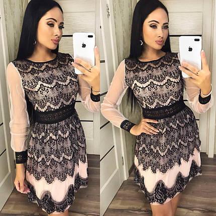 """Вечернее женское платье ткань """"Фатин кружево"""" 42, 44, 46 размер норма, фото 2"""