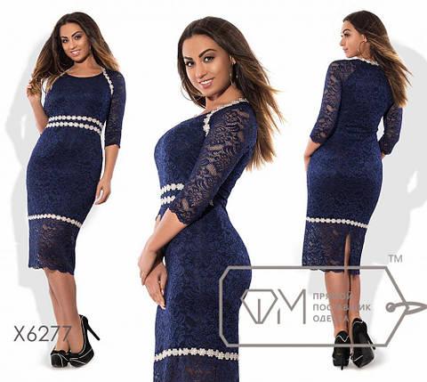 """Женское платье """"кружево"""" на подкладке 52, 54 размер батал, фото 2"""