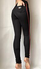 Модные женские лосины № 058 Ч (НА ФЛИСЕ), фото 3