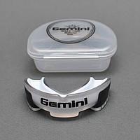 Капа боксерская односторонняя Gemini (бела-чёрная)