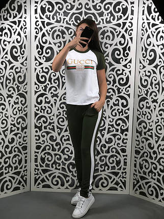 """Стильный женский костюм в стиле """"Gucci"""" """"Трикотаж"""" 44, 46, 48  размер норма, фото 2"""
