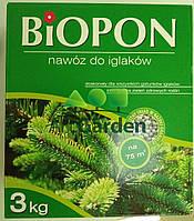 Biopon для хвойных растений 3кг