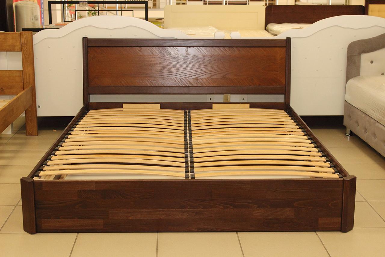 Ліжко 2-х спальне з підйомним механізмом з бука