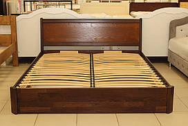 Кровать 2-х спальная с подъемным механизмом из бука