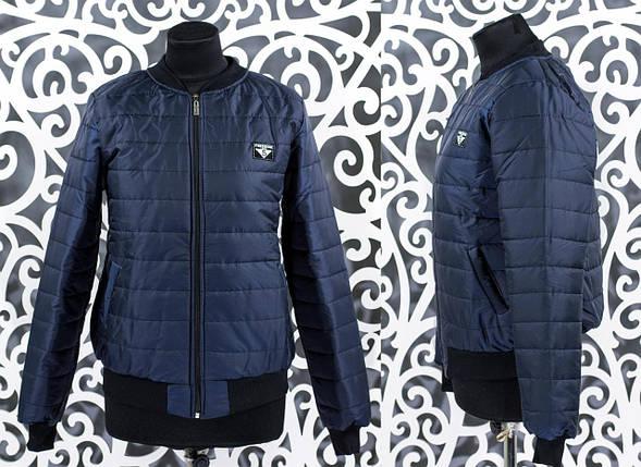 """Стильный женский бомбер-куртка """"плащевка на подкладке из синтипона""""  48 размер батал, фото 2"""