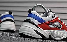 Женские демисезонные кроссовки Nike Tekno White Blue Red топ реплика, фото 3
