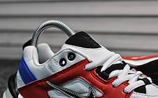 Женские демисезонные кроссовки Nike Tekno White Blue Red топ реплика, фото 2