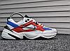 Женские демисезонные кроссовки Nike Tekno White Blue Red топ реплика