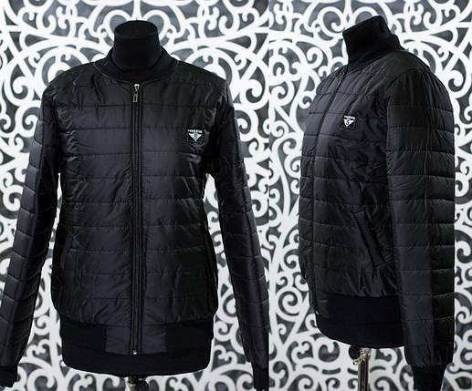 """Стильный женский бомбер-куртка """"плащевка на подкладке из синтипона"""" 50, 52 размер, фото 2"""