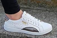 Кроссовки , женские, подростковые натуральная кожа белые молодежные (Код: 1230)