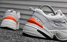 Женские демисезонные кроссовки Nike Tekno White Orange топ реплика, фото 3