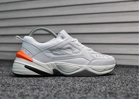 Женские демисезонные кроссовки Nike Tekno White Orange топ реплика, фото 2