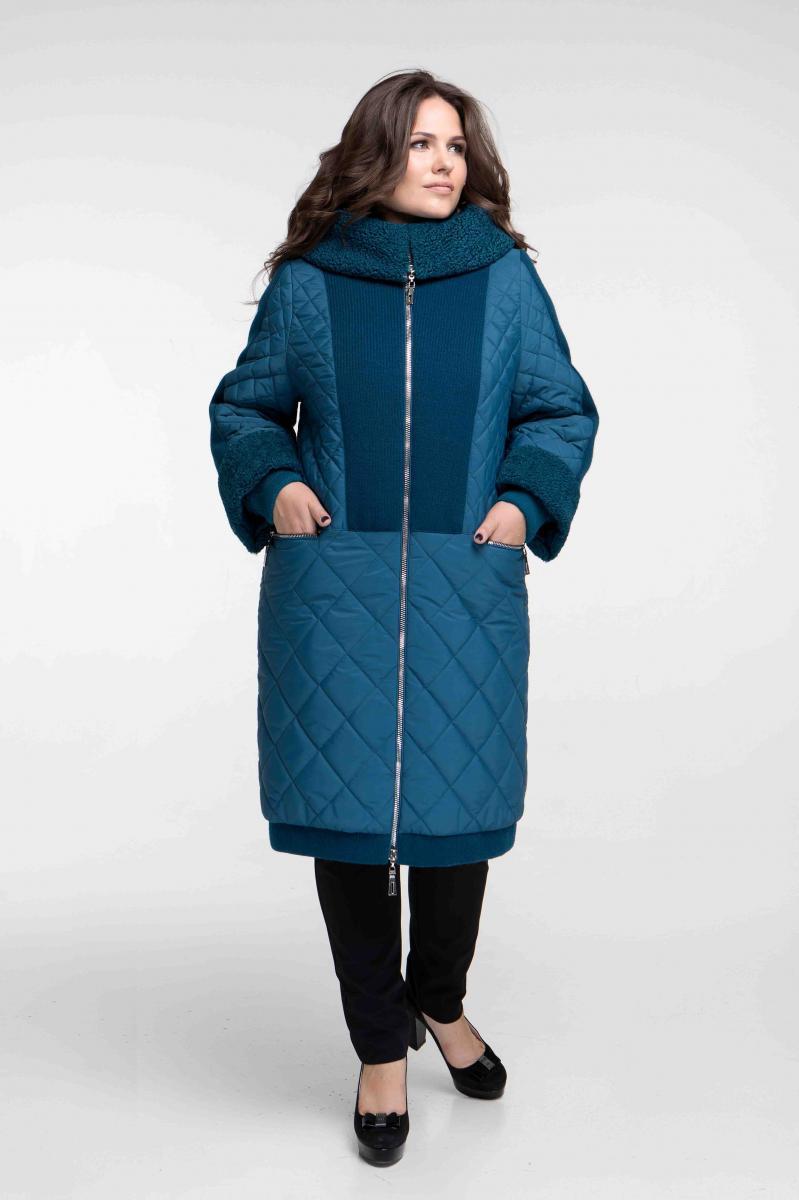 ce446b695c67 Я-Модна - купить Женское зимнее комбинированное пальто с искусственным  мехом ...