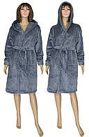 NEW! Зимові жіночі махрові халати серії Classic Grey ТМ УКРТРИКОТАЖ!