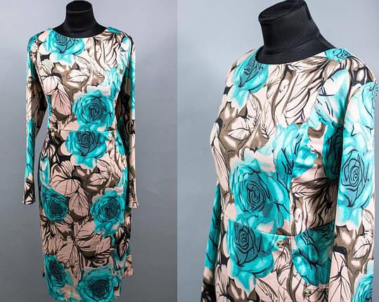 """Трендовое женское платье ткань """"Французский трикотаж"""" 54, 56, 58 размер баталы, фото 2"""