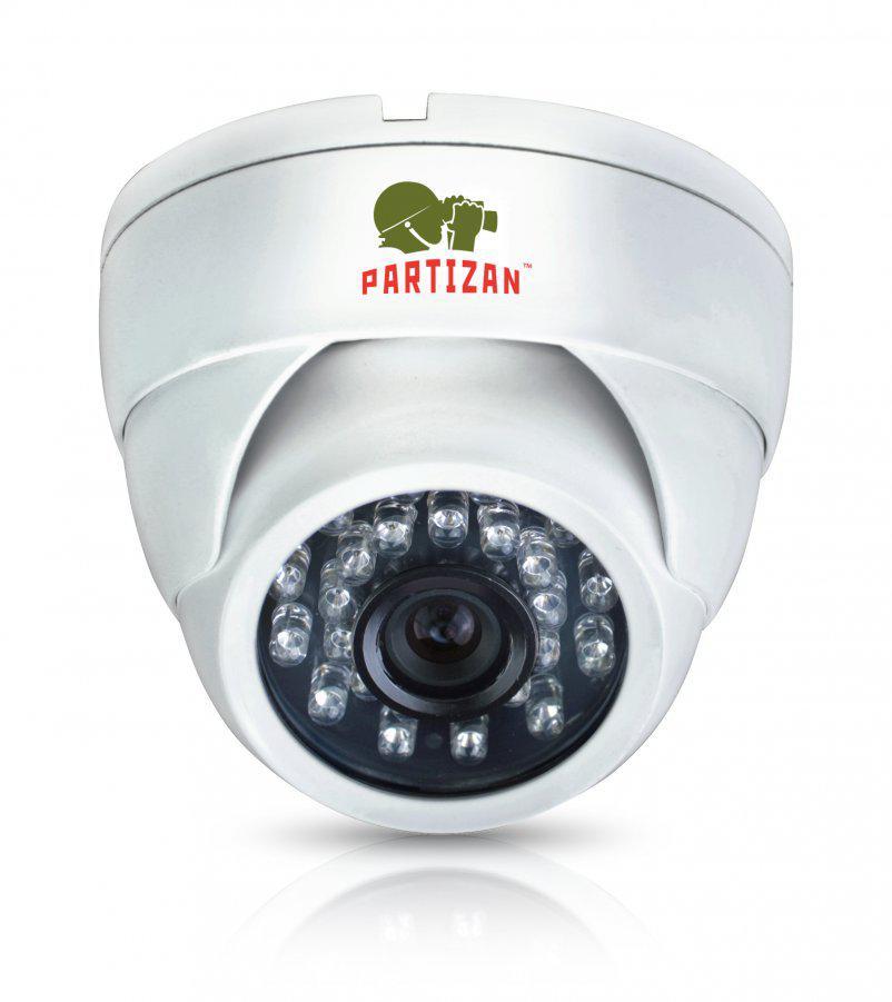Видеокамера купольная  Partizan CDM-223S-IR HD v4.2 Metal