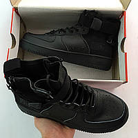 Кроссовки Nike SF Air Force 1 Mid Black (реплика люкс класса 1:1)