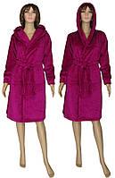NEW! Теплые и пушистые женские махровые халаты с капюшоном - серия Classic Vishnya ТМ УКРТРИКОТАЖ уже в продаже!