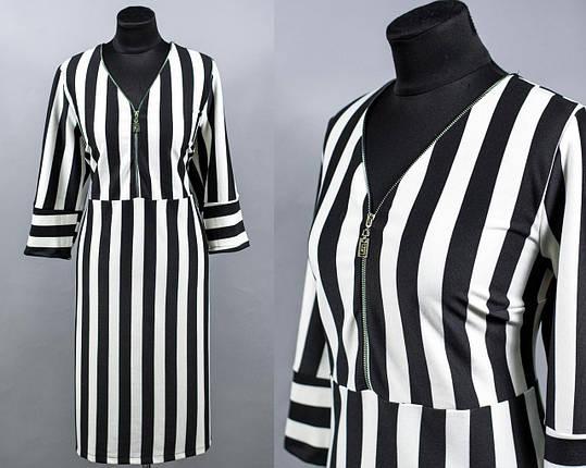 """Платье женское с принтом ткань """"Французского трикотажа"""" размер 56, 58 батал, фото 2"""