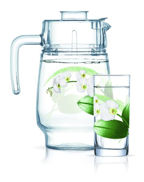 Amsterdam White Orchid Набор для воды - 7 пр. Luminarc N9627
