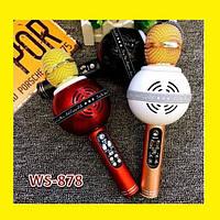 Микрофон Wster WS 878 портативный караоке с динамиком, фото 1