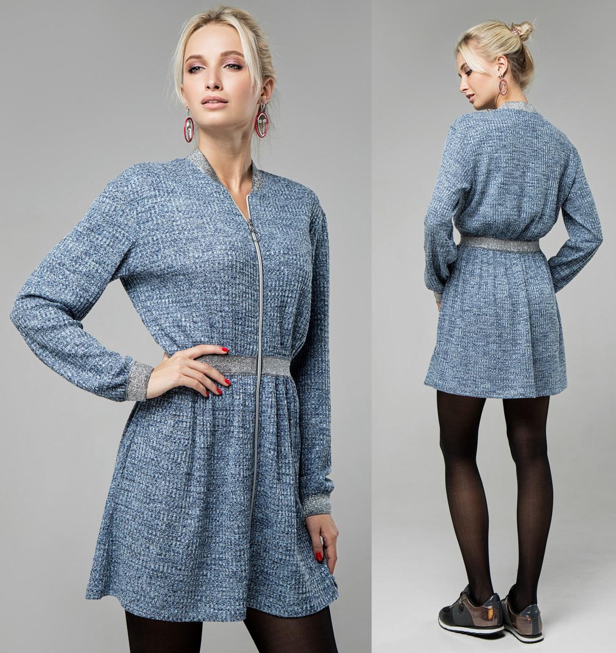 0f09f63a10c Вязаное платье теплое женское офисное демисезоное с длинным рукавом -  Интернет магазин Sport-sila.