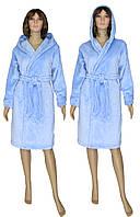 NEW! Классические женские махровые халаты серии Classic Light Blue ТМ УКРТРИКОТАЖ!