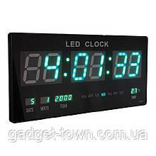 Настенные электронные часы LED с календарем и термометром