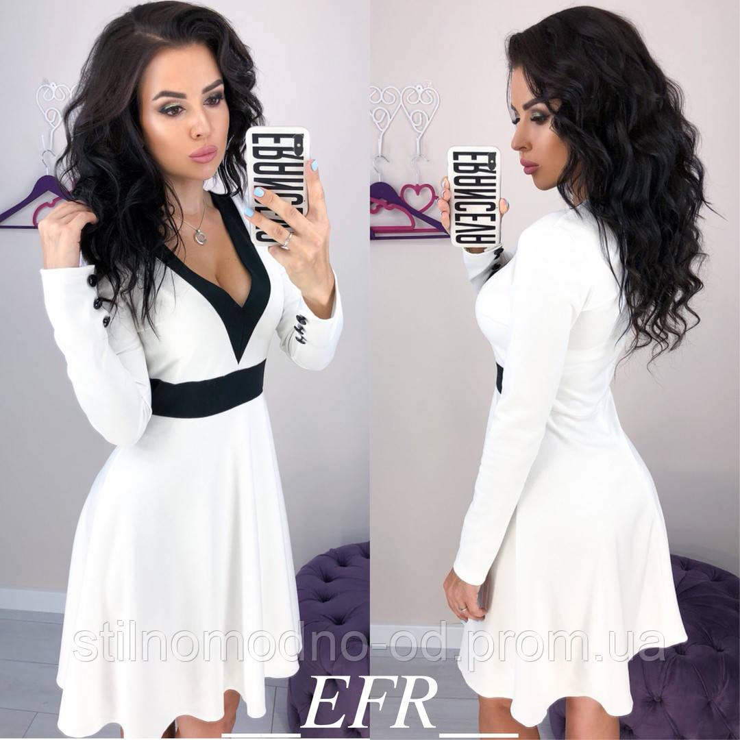 fec77338b3d Женское платье с длинным рукавом итальянский трикотаж от