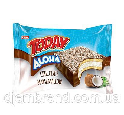 Кекс с маршмеллоу Today aloha, кокос 50 г (24 шт. ящ)