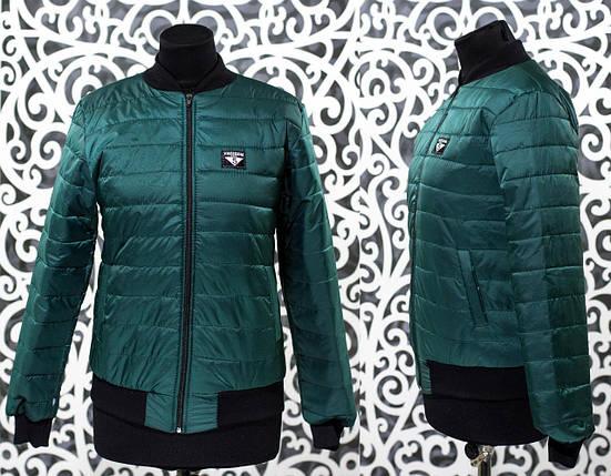 """Стильный женский бомбер-куртка """"плащевка на подкладке из синтипона"""" 48, 50 размер, фото 2"""