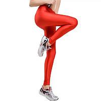Удобные леггинсы для фитнеса эксклюзивные красные, фото 1