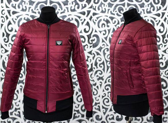 """Стильный женский бомбер-куртка """"плащевка на подкладке из синтипона"""" 48, 50, 52 размер, фото 2"""