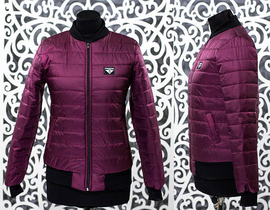 """Стильный женский бомбер-куртка """"плащевка на подкладке из синтипона"""" т 48, 50 размер, фото 2"""