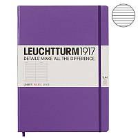 Записная книга Leuchttrum Master Slim A4+, твердая обл., лаванда, линия (340933)