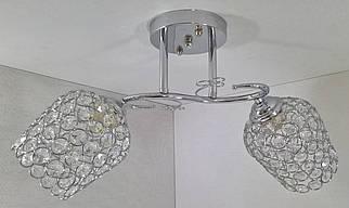 Люстра стельова на 2 лампочки 2229/2B-ch Хром 24х20х48 див.