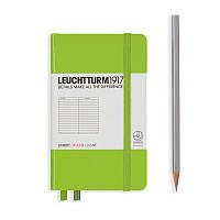 Записная книга Leuchttrum карманная, твердая обл., лайм, линия (338735), фото 1