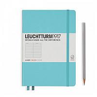 Записная книга Leuchttrum средняя, твердая обл., бирюзовый, линия (338715), фото 1