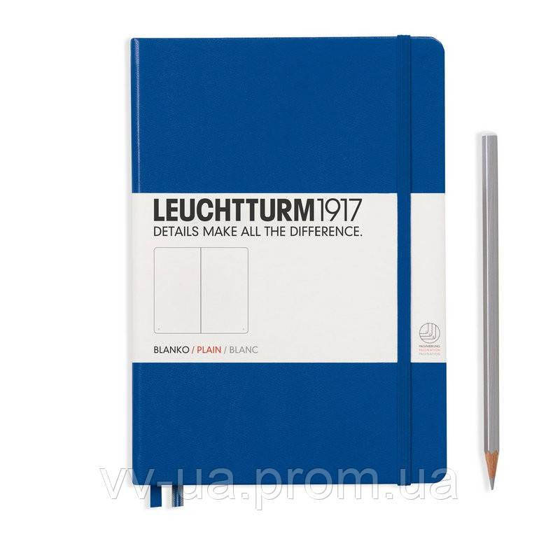 Записная книга Leuchttrum средняя, твердая обл., королевский синий, нелинованная (342705)