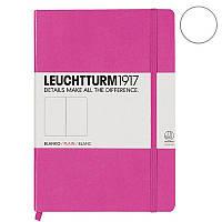 Записная книга Leuchttrum средняя, твердая обл., розовый, нелинованная