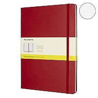 Записная книга Moleskine Classic большая, твердая обл., красный, клетка