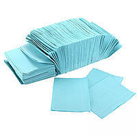 Нагрудники - салфетки 430 х 330 мм, стоматологические трехслойные текстурированные, Голубые 500 шт.